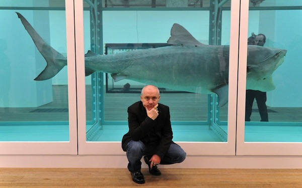 damien hirst retrospective exhibition at tate modern in feather factor