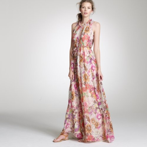 Watercolor Pastiche gown, via J.Crew in 2010