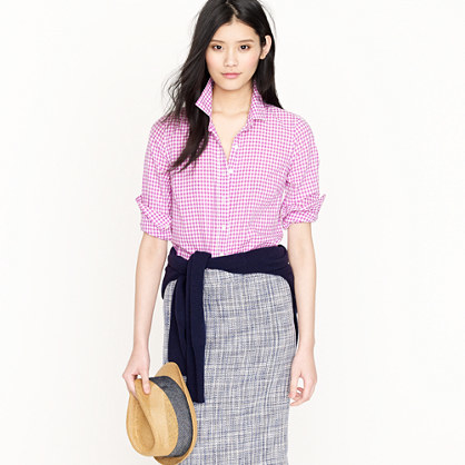 J.Crew gingham Perfect Shirt
