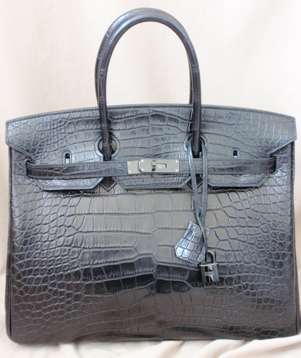 Hermes SO Black Birkin in Croc | Feather Factor