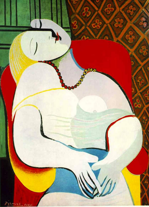 Le Reve by Picasso, purchased by Steve Wynn for ~$60M in 2001. When showing it to friends in 2006, he teared the canvas with his elbow, due to his gesturing and an medical issue affecting his peripheral vision.