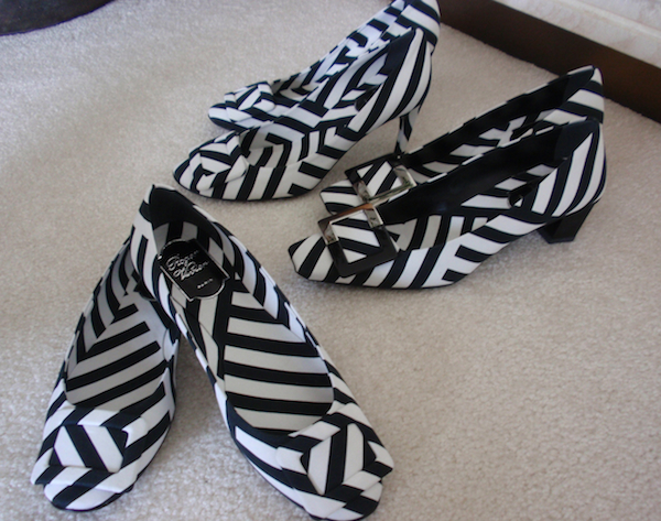 Striped Roger Vivier shoes
