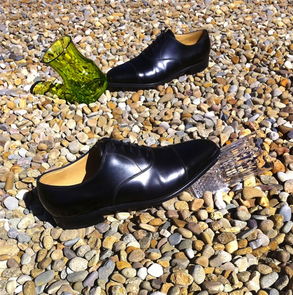 John Lobb (Hermes) City II Oxfords, Saint-Louis vase, Saint-Louis Tommy highball glass