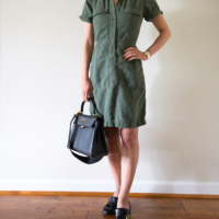 Wearing Lately - Cargo Dress and White Sandals