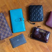 hermes Silk'in paradise blue/pearl grey wallet